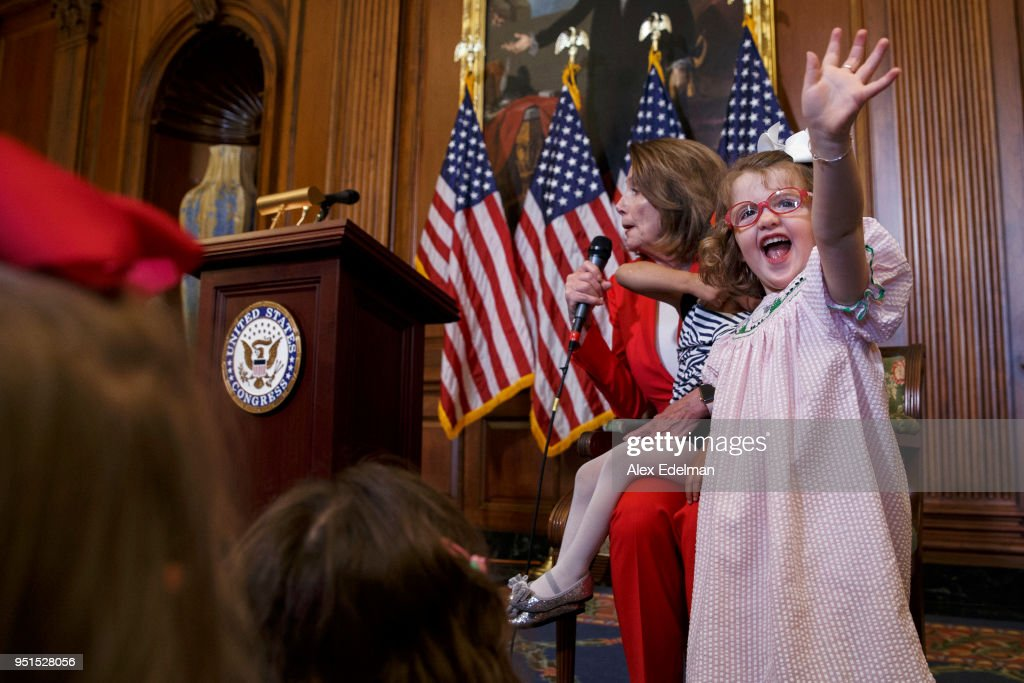 Nancy Pelosi Holds Her Weekly News Conference At The Capitol