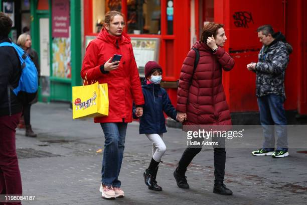 A child wears a face mask in Chinatown on February 2 2020 in London England There are currently 2 confirmed cases of Coronavirus in the UK