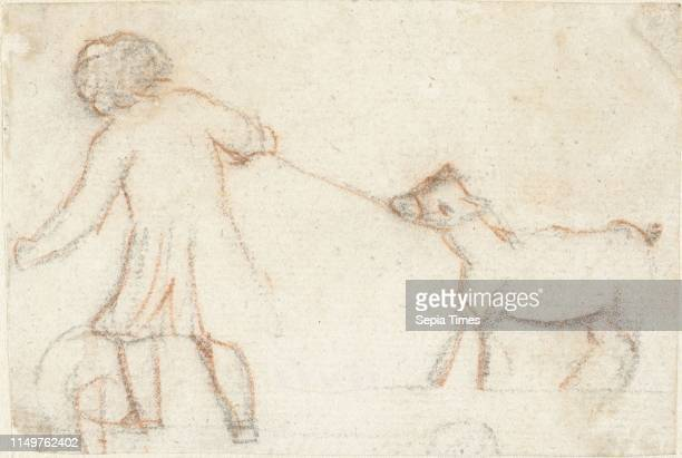Child with a goat on a rope Simon Andreas Krausz 1770 1825