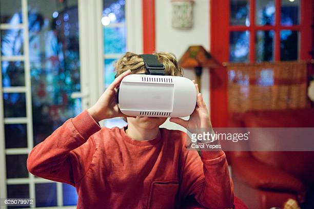 Child with a virtual reality gam