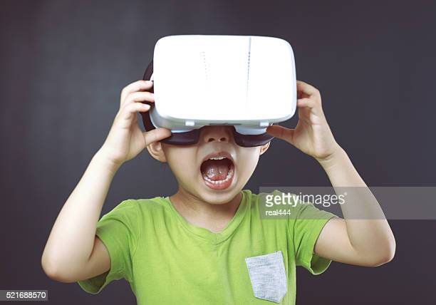 Child with a virtual reality game