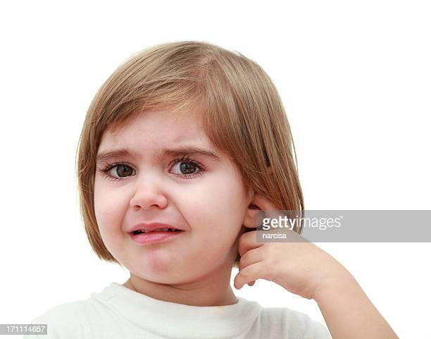 Kind mit Ohr Schmerzen