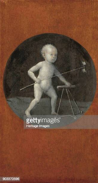 Child with Pinwheel and Toddler Chair Found in the Collection of Art History Museum Vienne