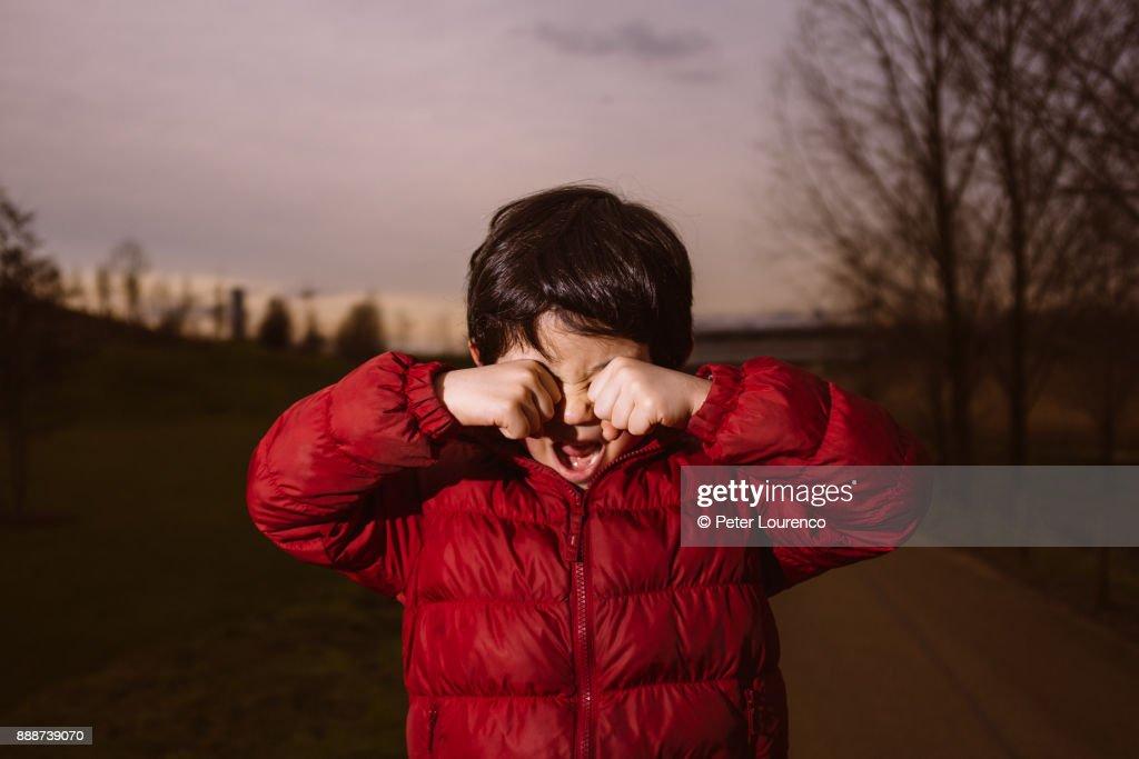 childhood anguish : Stock Photo