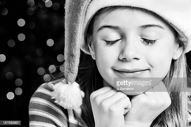 enfance noël dreams - noel noir et blanc photos et images de collection