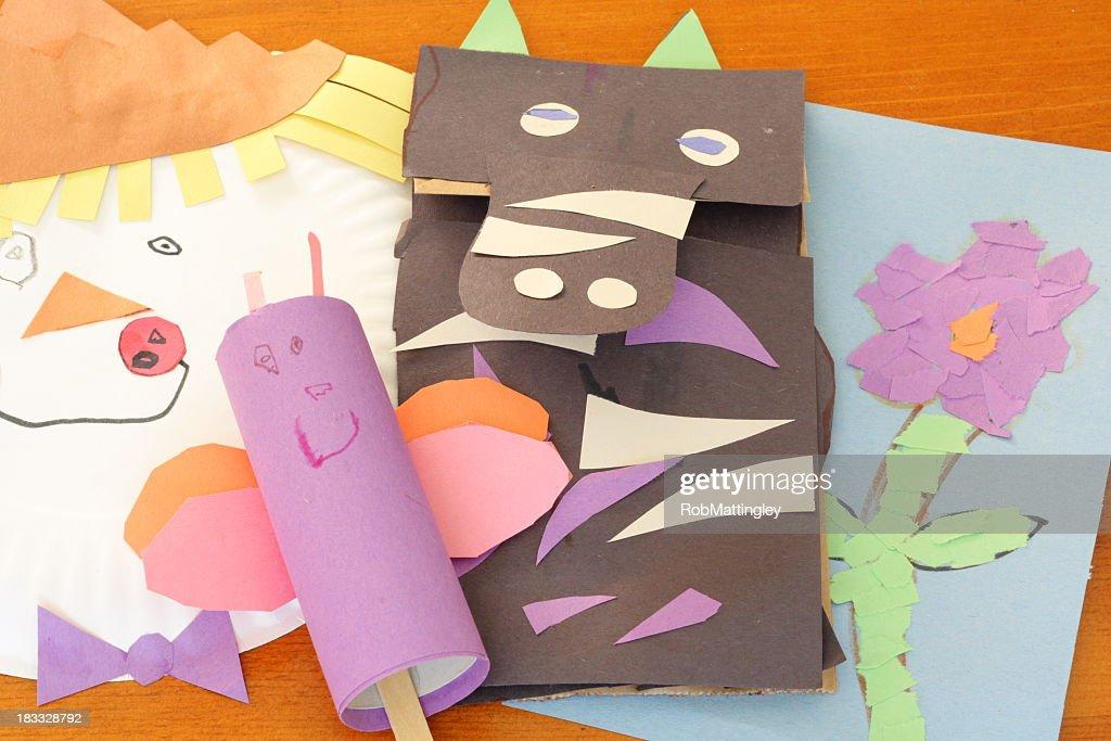 La infancia Artesanías : Foto de stock