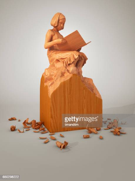 childhood girl sculpture - incomplete stock pictures, royalty-free photos & images
