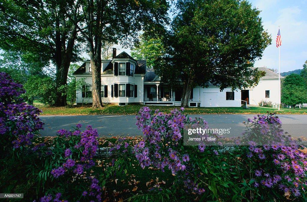 Childhood Home of President Calvin Coolidge : Stock Photo