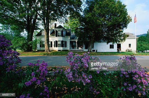 childhood home of president calvin coolidge - calvin coolidge stock photos and pictures