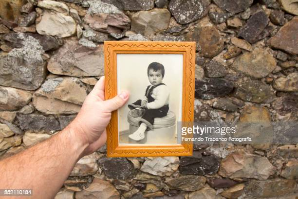 childhood memories - childhood photo album stock photos and pictures