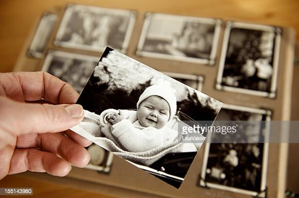childhood - photo album stock photos and pictures