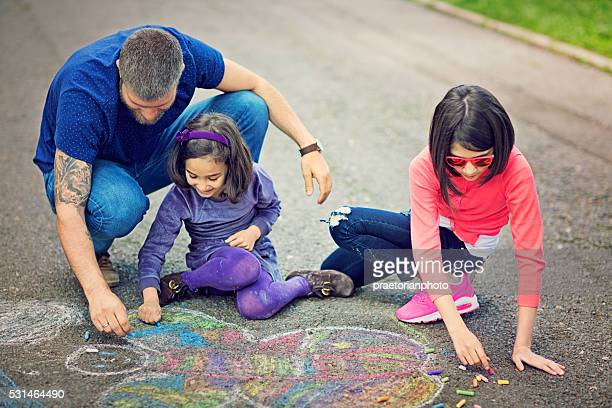 childhood - chalk art equipment stock pictures, royalty-free photos & images