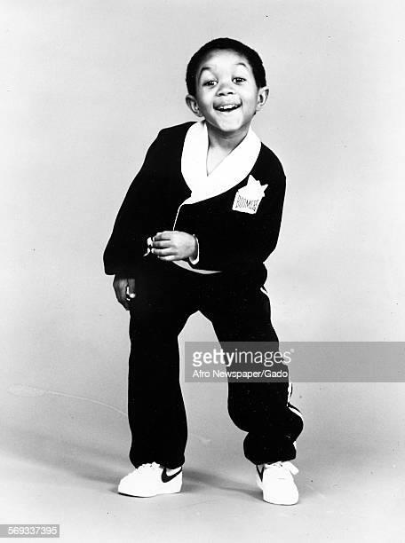 Childhood portrait of actor Emanuel Lewis as a child 1953