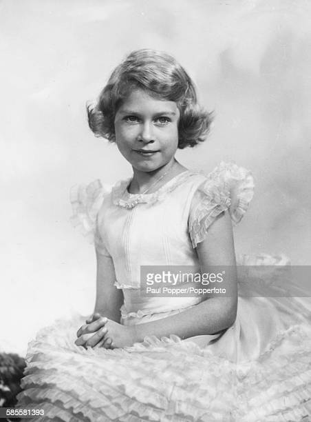 Childhood portrait of Queen Elizabeth II circa 1934
