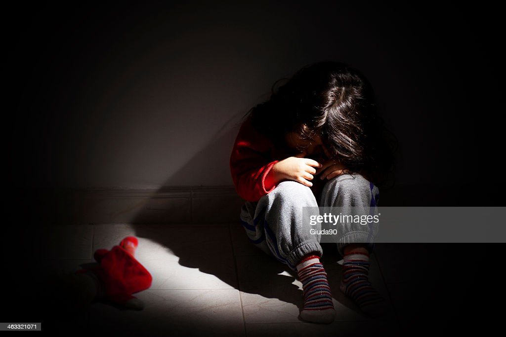 Childhood problems - Child abuse : Stock Photo