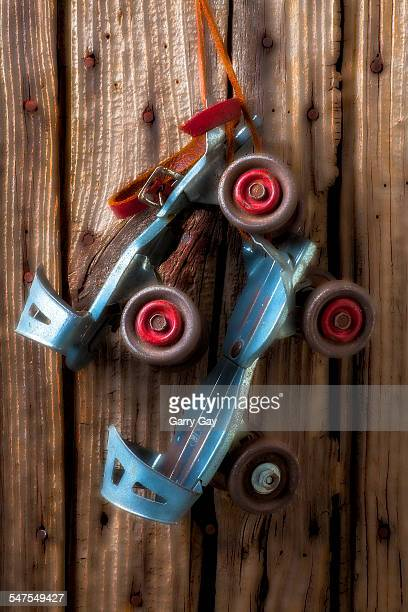 childhood skates - metallic shoe stock pictures, royalty-free photos & images