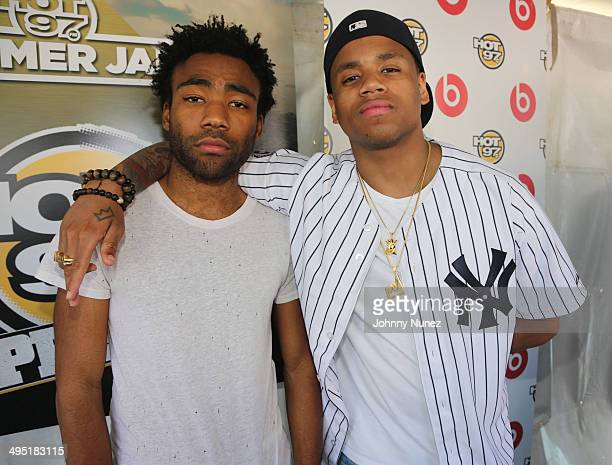Childish Gambino and Mack Wilds attend Hot 97 Summer Jam 2014 at MetLife Stadium on June 1, 2014 in East Rutherford City.