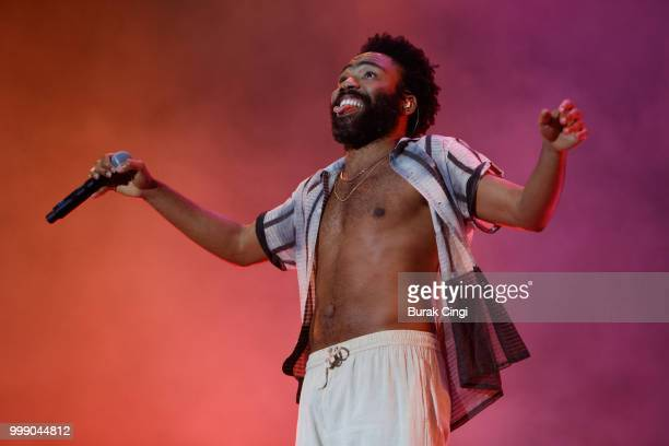 Childish Gambino performs at Lovebox festival at Gunnersbury Park on July 14, 2018 in London, England.