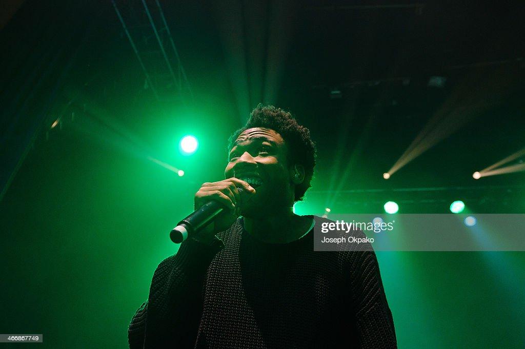 Childish Gambino performs at Shepherds Bush Empire on February 4, 2014 in London, England.