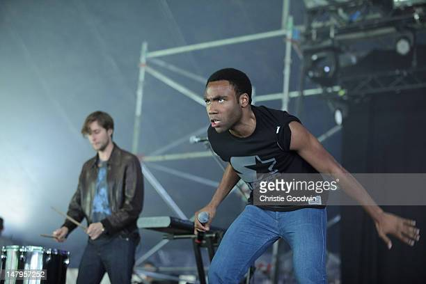 Childish Gambino performs on stage on Day 1 of Wireless Festival at Hyde Park on July 6, 2012 in London, United Kingdom.