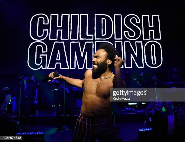 Childish Gambino performs onstage during Rihanna's 4th Annual Diamond Ball benefitting The Clara Lionel Foundation at Cipriani Wall Street on...