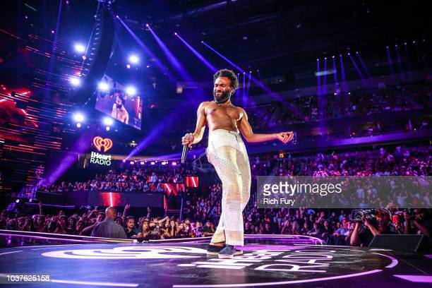 Childish Gambino performs onstage during the iHeartRadio Music Festival at TMobile Arena on September 21 2018 in Las Vegas Nevada
