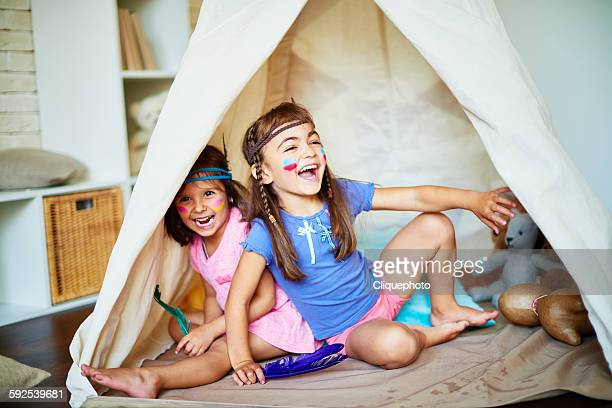 childish game - teepee stock pictures, royalty-free photos & images