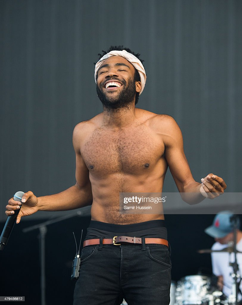 Childish Gamino performs on day 2 of the New Look Wireless Festival at Finsbury Park on July 4, 2015 in London, England.