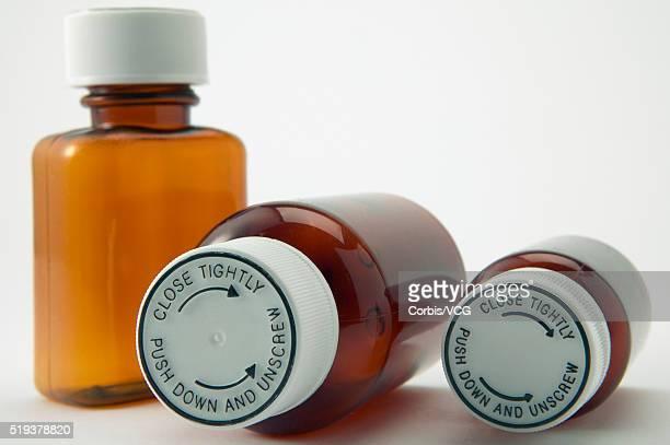 Child-Proof Lids on Medicine Bottles