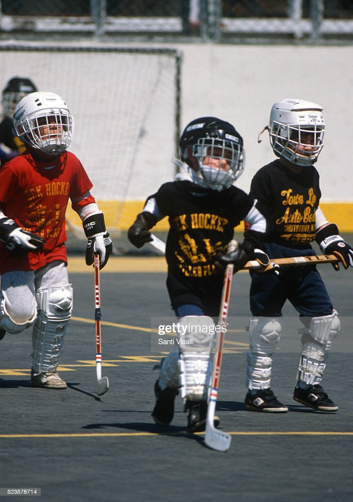 Childred playing Dek Hockey on June 10, 1980 in Miller Place