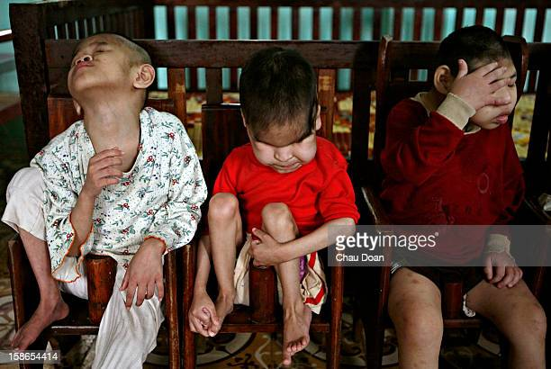 Children abandoned by their parents at birth at the Centre of Aged People and Disabled Children in Ba Vi district Ha Tay province Many of the...
