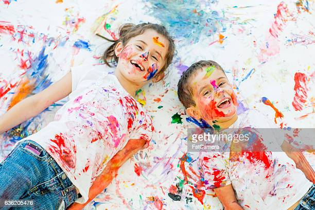 Children and Colorful Paint