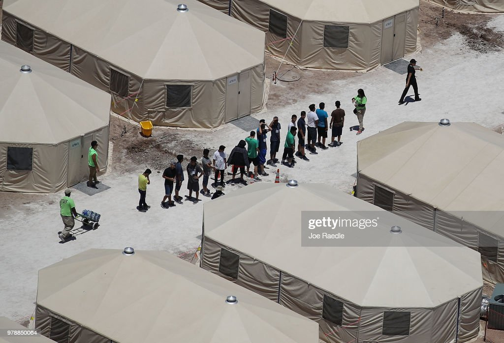 New Tent Camps Go Up In West Texas For Migrant Children Separated From Parents : News Photo