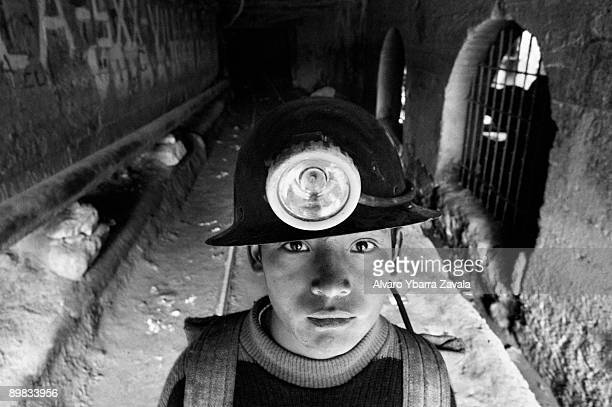 Children are often illegally employed to work in mines in Bolivia Pictured here is Miguel Hernandez who spends more than 11 hours a day working...