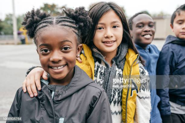 children are ready for field trip - childhood stock pictures, royalty-free photos & images