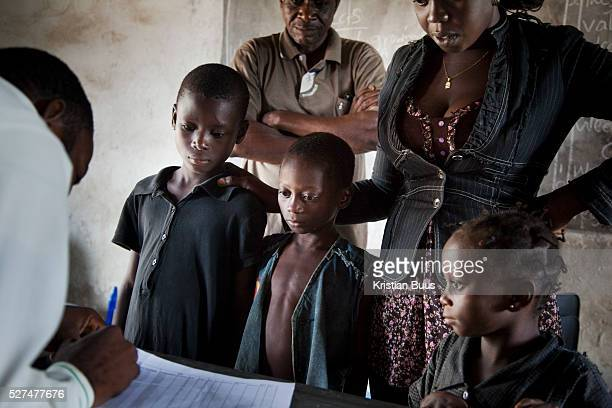 Children are registered before having their HIV test The children are all particular vulnerable either single or double orphans or from families...