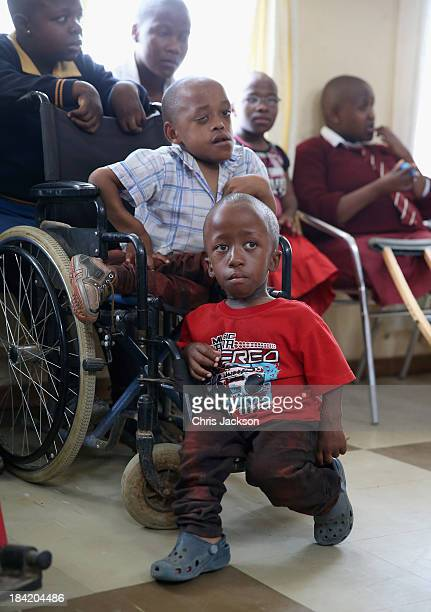 Children are seen at Sentebale supported St Angela's Centre for Children with Disabilities on October 11 2013 in Maseru Lesotho Sentebale provides...