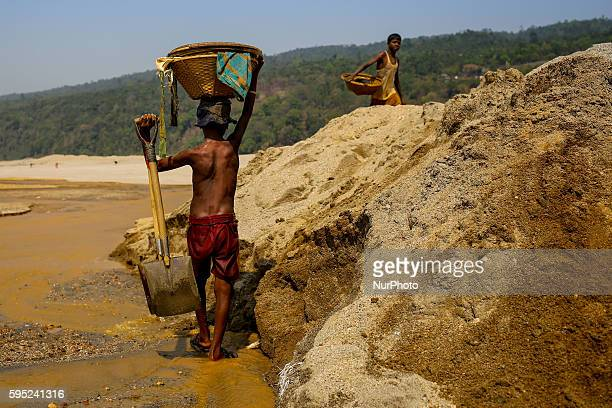 Children are working in a stone mine at Jaflong Sylhet on March 18 2016