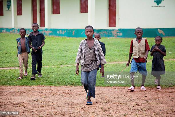Children arrive to the class room where the HIV speed test is taking place 120 children were tested in an afternoon all of them proved negative EVA...