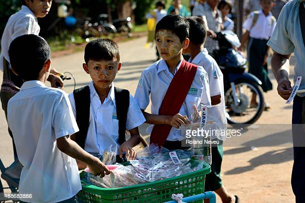 Children at a school in Mawlamyine it was the first capital of British Burma in the 19th century It's the main city of the Mon State on the Salween...