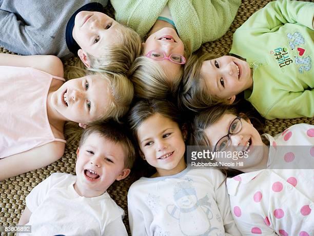 children at a sleepover