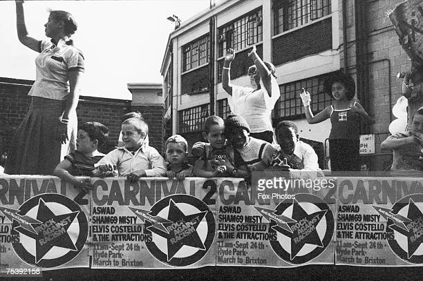 Children at an Anti Nazi rally in South London August 1978 The Rock Against Racism concert includes Aswad and Elvis Costello