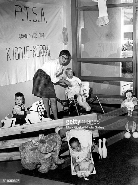 Children at daycare center late 1960s