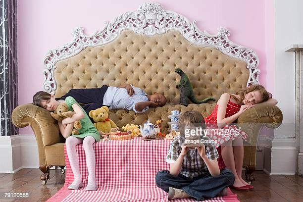 Children at tea party