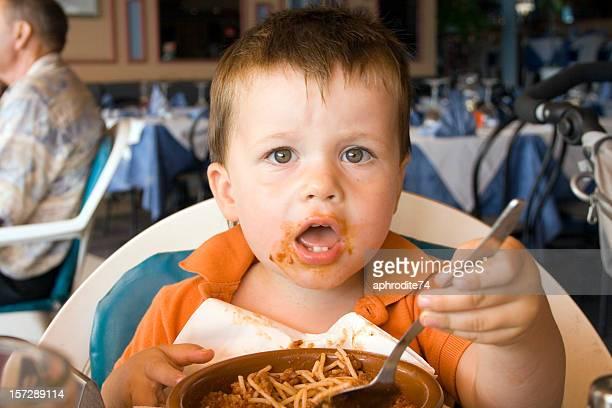 children at the restaurant