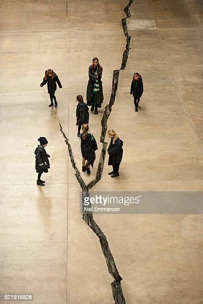 Children at the Tate Modern Gallery, London, UK