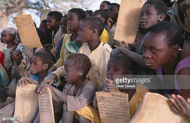 Children at village school, Front view, Niger