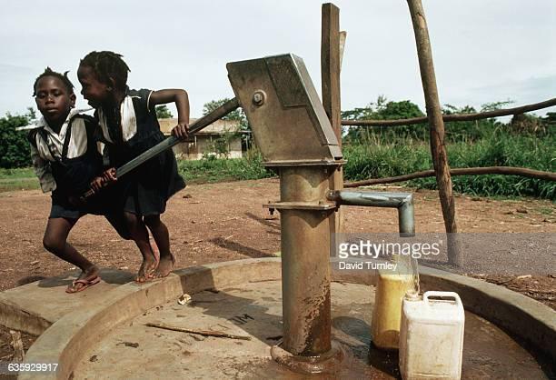 Children at Water Pump