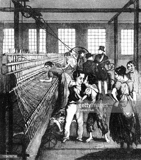 Children at work in a factory 1840
