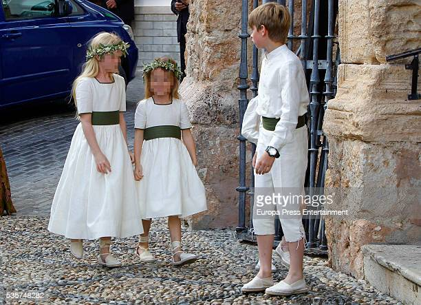 Children attend the wedding of Lady Charlotte and Alejandro Santo Domingo on May 28 2016 in Granada Spain